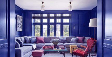 Classic Blue color del año de Pantone en decoración del hogar.